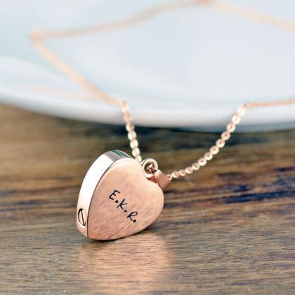 Rose Gold Heart, Personalized Crema..