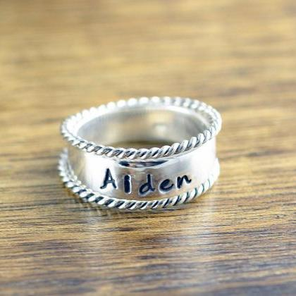 Mothers Ring - Stackable Name Rings..