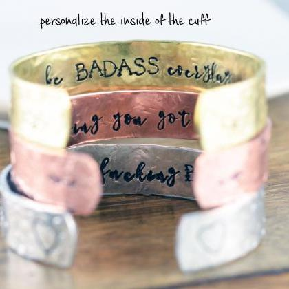 Inspirational Cuff, I am Beautiful ..