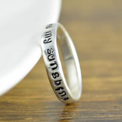 Sterling Silver Ring, You Are My Su..