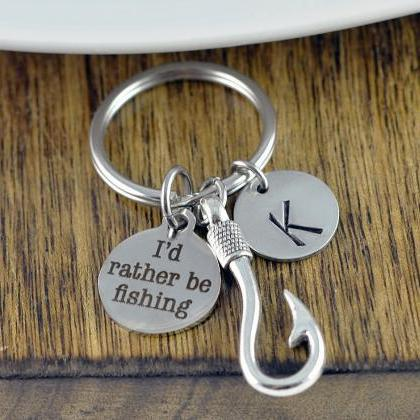 Engraved Keychain - I'd Rather Be F..