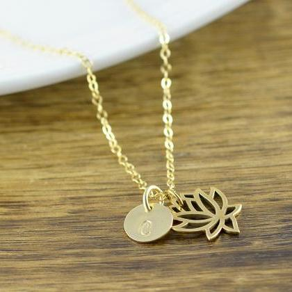 Lotus Necklace - Personalized Lotus..