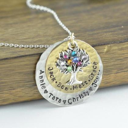 Family Tree Necklace - Tree of Life..