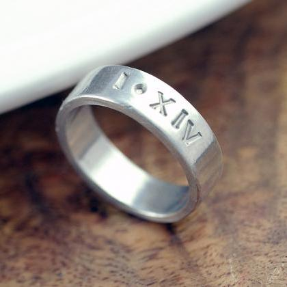 Personalized Ring, Unisex Ring, Rom..