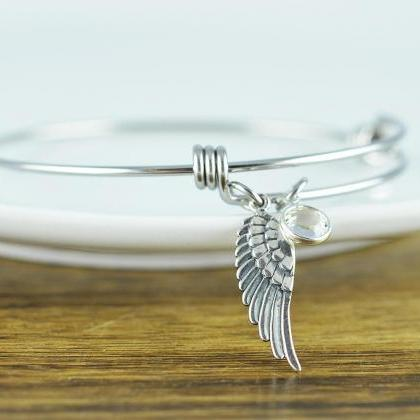 Silver Angel Wing Bracelet, Angel W..