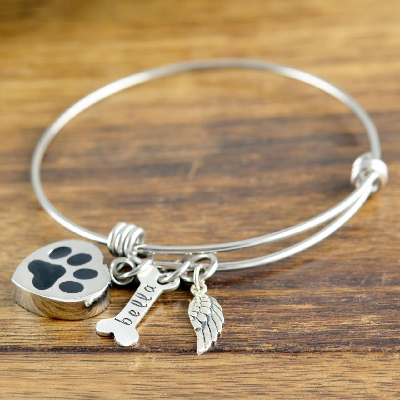 Personalized Dog Cremation Bracelet, Pet Memorial Bracelet, Pet Memorial Jewelry, Cremation Bracelets, Christmas Gifts, Loss of Dog