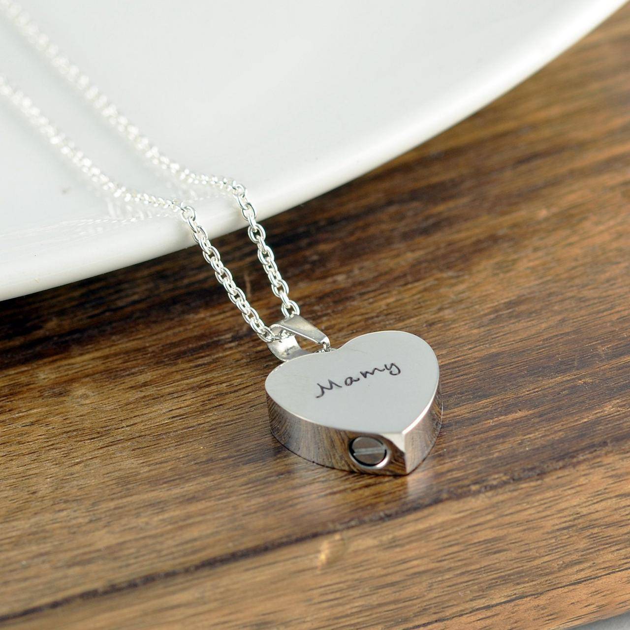 Personalized Cremation Jewelry Ash Jewelry Heart Cremation Pendant Urn Necklace For Ashes Silver On Luulla