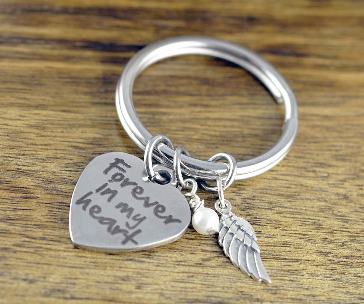 Forever In My Heart Key Chain - Memorial Keychain - Remembrance Jewelry - Bereavement Keychain - Sympathy Gift - Loss of Loved One