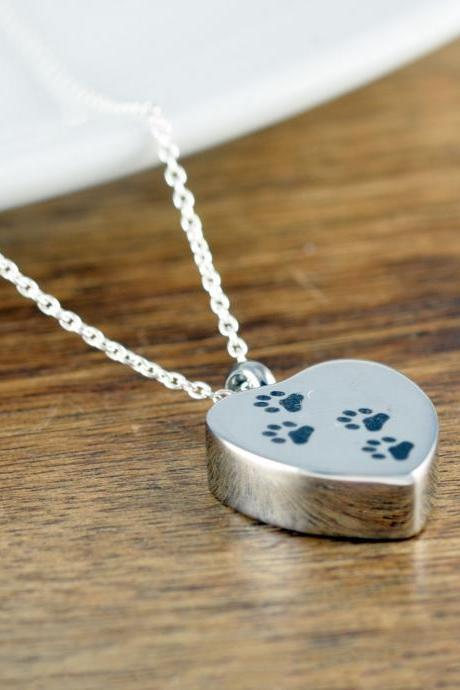 Dog Memorial Gift, Pet Jewelry, Gift for Her, Cremation Urn, Silver Necklace, Cremation Jewelry, Loss of Pet, Ash Jewelry,Cremation Necklace