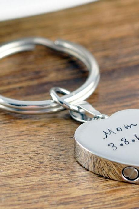 Personalized Memorial Keychain, Cremation Jewelry, Cremation keychain, Urn keychain For Ashes, , Cremation keyring, Cremation Keepsake