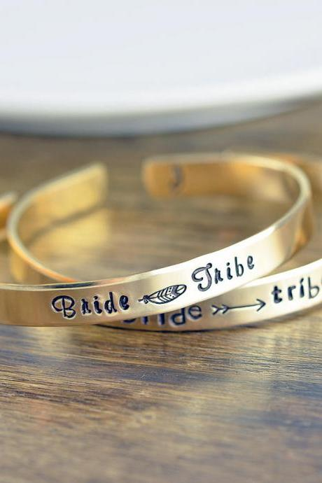 Gold Cuff Bracelet, Bride Tribe, Bridesmaid Gift, Will You Be My Bridesmaid, Bohemian Wedding Jewelry, I Couldn't Say I Do Without You