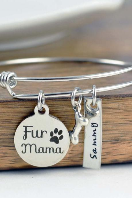 Fur Mama Bracelet, Dog Charm Bracelet, Dog Lover Bracelet, Dog Lover Gift, Animal Lover Gift, Mothers Day Jewelry, Dog Lover, Pet Mom
