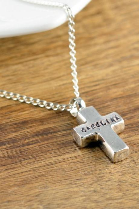 sympathy gift necklace, memorial necklace, remembrance necklace, Cremation Necklace, personalized cross necklace, gift for him