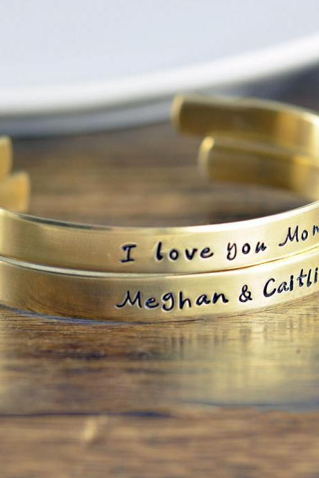 Custom Cuff Bracelet, Personalized Cuff in Copper, Brass, Silver, Personalized Jewelry, Mothers Bracelet, Mommy Jewelry, Friendship Bracelet