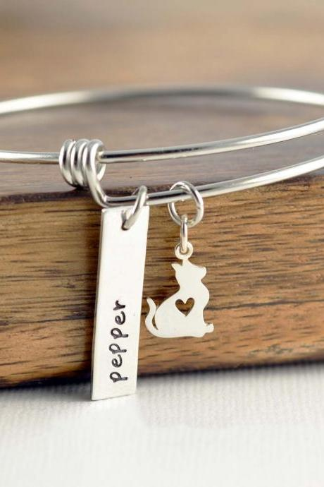 Cat Lover Gift, Cat Lover Gift Jewelry, Animal Lover Gift, Bracelet for Women, Cat Bracelet Personalized, Cat Bracelet for Women