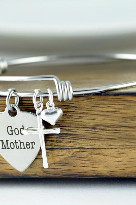 God Mother Bracelet, God Mother Gift, Baptism Gift, Will You Be My Godmother, Godmother Proposal, Religious Bracelet, Religious Gift