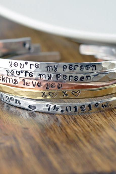 Custom Cuff Bracelet, Gift Idea for Her, Inspirational Cuff Bracelet, Inspirational Jewelry, Personalized Cuff, Inspiration Bracelet