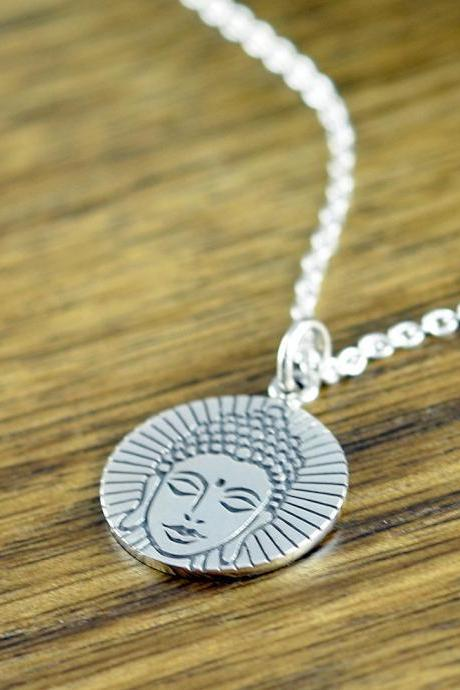 Buddha Necklace - Buddha Charm Necklace - Yoga Gifts - Boho Necklace - Yoga Necklace - Yoga Jewelry - Gift for Women