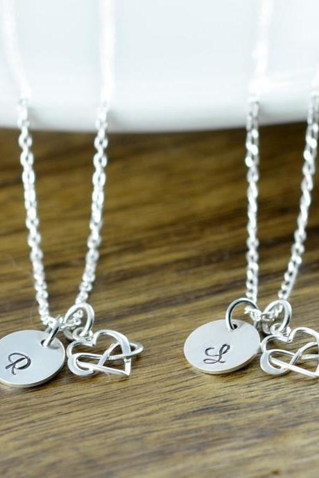 Heart Infinity Necklace, Infinity Necklace, Infinite Love Necklace, Initial Necklace, Charm Necklace, Valentine's Day Necklace