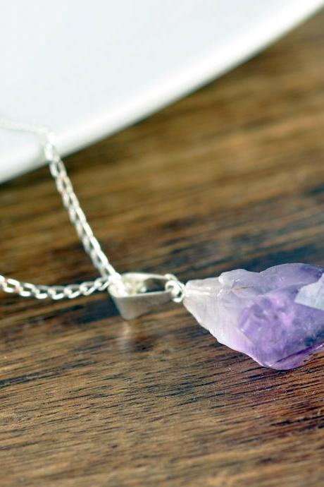 Amethyst Crystal Necklace, Amethyst Necklace, Healing Crystal Necklace, Crystal Necklace, Reiki Crystal, Amethyst Jewelry, Raw Amethyst
