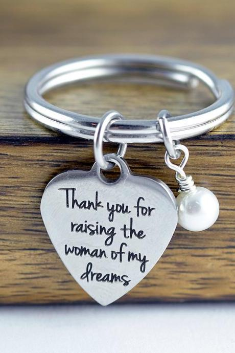 thank you for raising the woman of my dreams, gift for mother in law to be, mother of the bride gift from groom, wedding gift jewelry