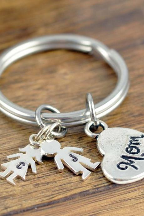 Mothers Day Personalized, Boy Charm, Girl Charm, Initial Keychain, Initial Charm, Custom Keychain, Personalized Keychain for Women