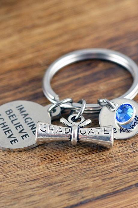 Graduation Gift, Personalized Graduation Keychain, Class of 2018, Senior Gift, High School Graduation, College Graduation