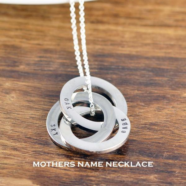 Personalized Mothers Necklace, Gift for Mom, Name Necklace For Mother, Mom Birthday Gifts, Mother's Day Gift, Mom Jewelry,Children's Names