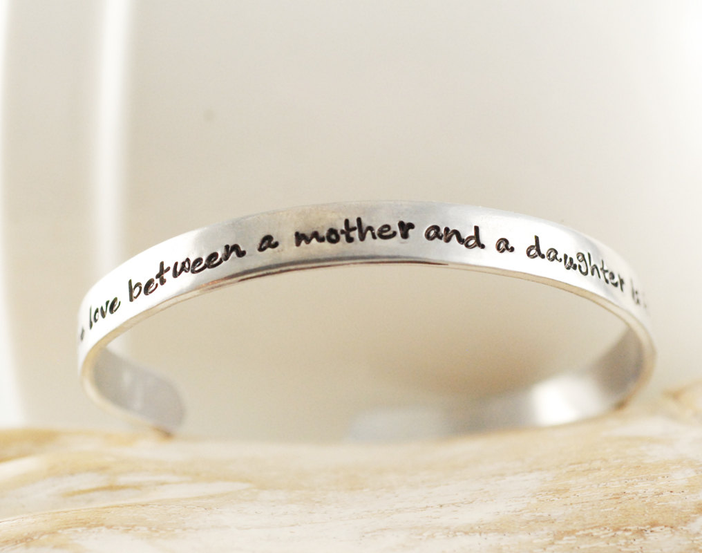 Personalized Silver Hand Stamped Cuff Bracelet For Women Men Uni